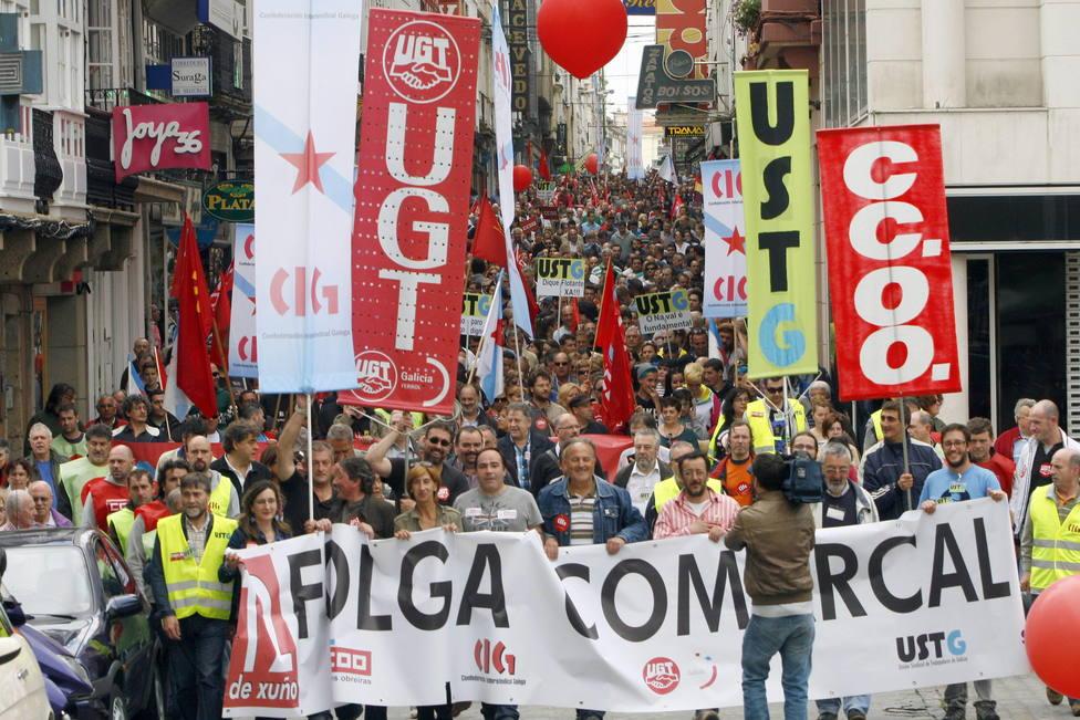 Foto de archivo de la huelga comarcal de 2013 - FOTO: EFE / Kiko Delgado
