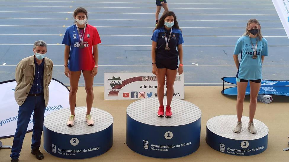 Cinco medallas para el Atletismo Delsur en el Campeonato de Andalucía absoluto