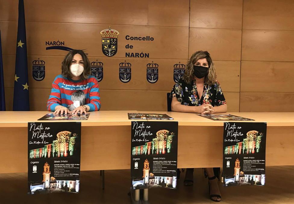 Marián Ferreiro y Natalia Hermida presentaron la iniciativa. FOTO: Concello Narón