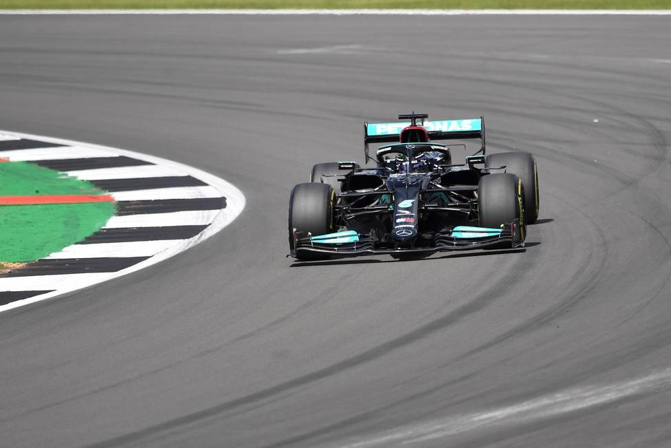 Lewis Hamilton en el Gran Premio de Gran Bretaña.