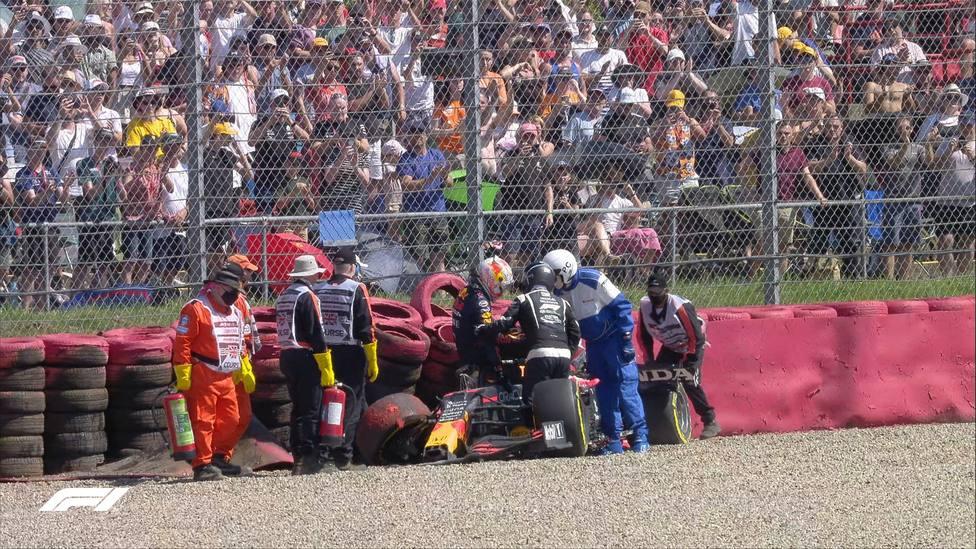 Accidente de Verstappen
