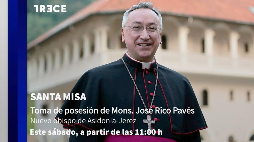 TRECE emitirá este sábado la Santa Misa de toma de posesión del nuevo obispo de Asidonia-Jerez