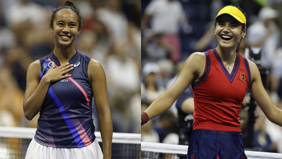 Leylah Fernández y Emma Raducanu, finalistas del US Open