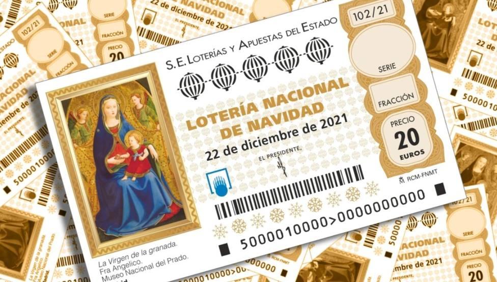 Décimo de la lotería de Navidad de 2021