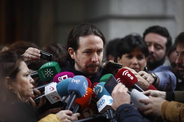 Pablo Iglesias avisa al Gobierno de que no es muy sensato tratar de aguantar la legislatura sin un acuerdo de PGE