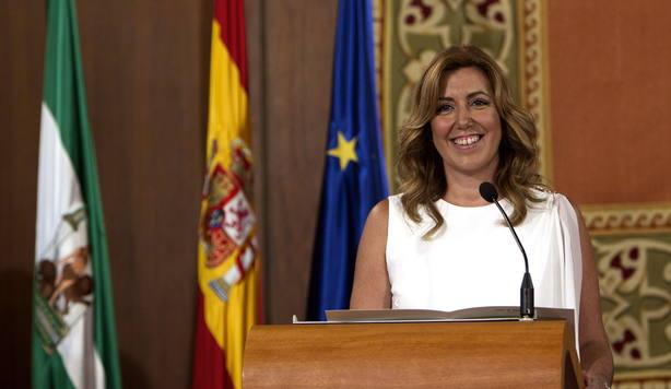 Acto de toma de posesión de Susana Díaz