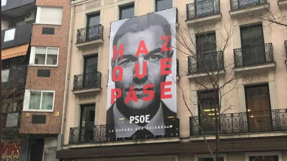 Haz que pase, lema de Pedro Sánchez para el 28A