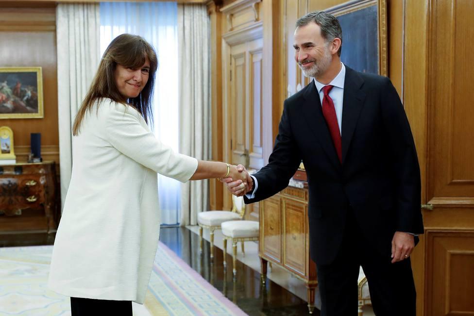"""Borràs, tras su reunión con Felipe VI: """"Le he dicho que los catalanes no tenemos Rey"""""""