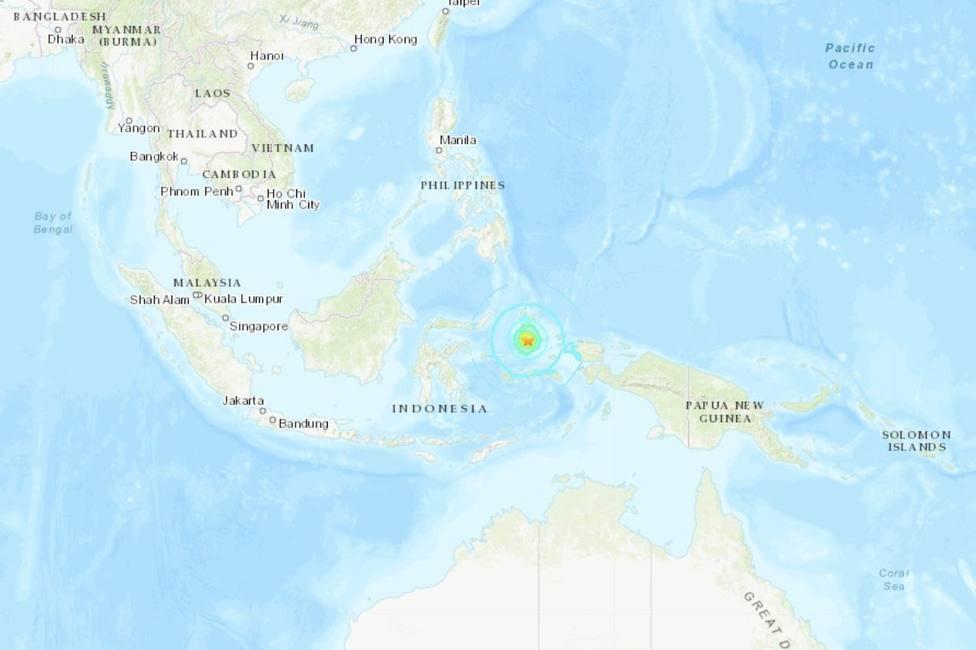 Un terremoto de 7,3 sacude la isla de Halmahera, en las Molucas, Indonesia