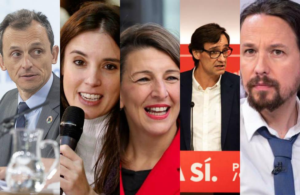 Varios ministros de Sánchez