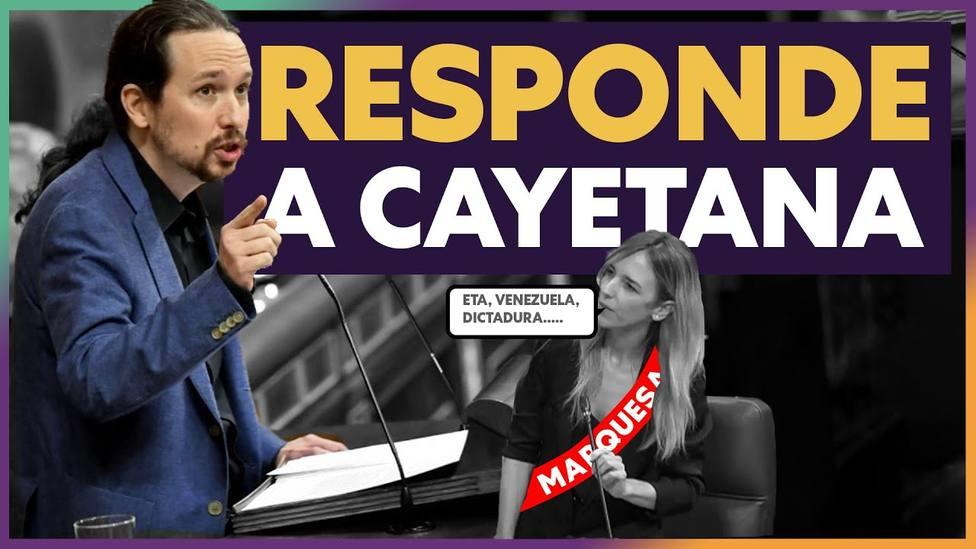 Así insulta Podemos a Cayetana Álvarez de Toledo desde su canal de YouTube