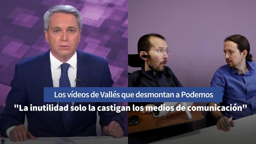 Los vídeos de 2015 que retratan los ataques a Vicente Vallés por parte de Iglesias y Echenique