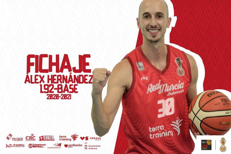 Álex Hernández regresa a la región para jugar en Real Murcia Baloncesto