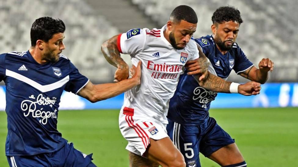 El Lyon de Memphis Depay no logra pasar del empate ante el Girondins de Burdeos