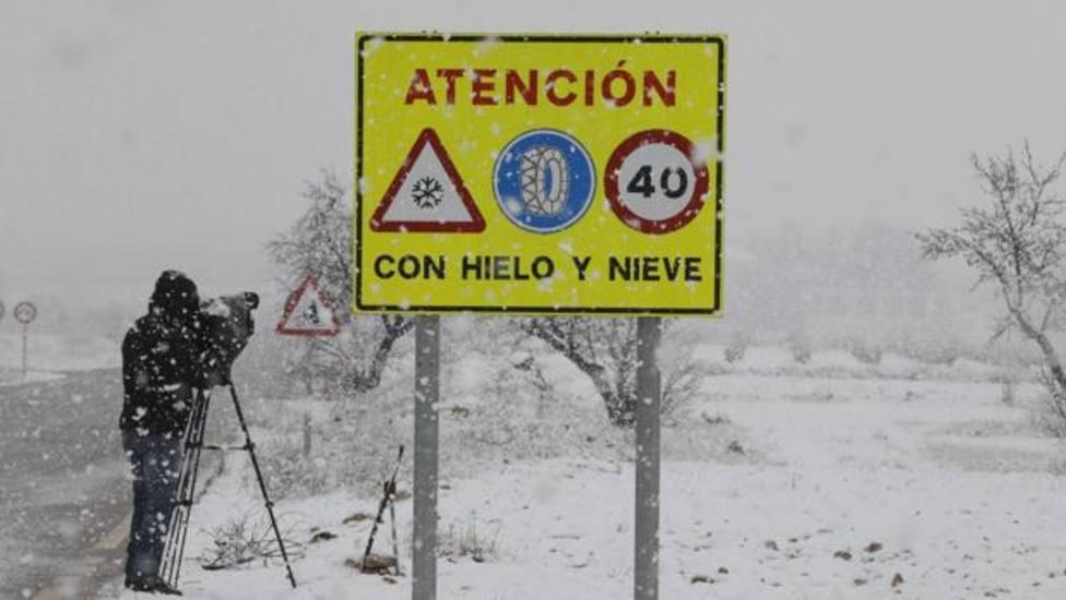 Cartel Carreteras Nieve