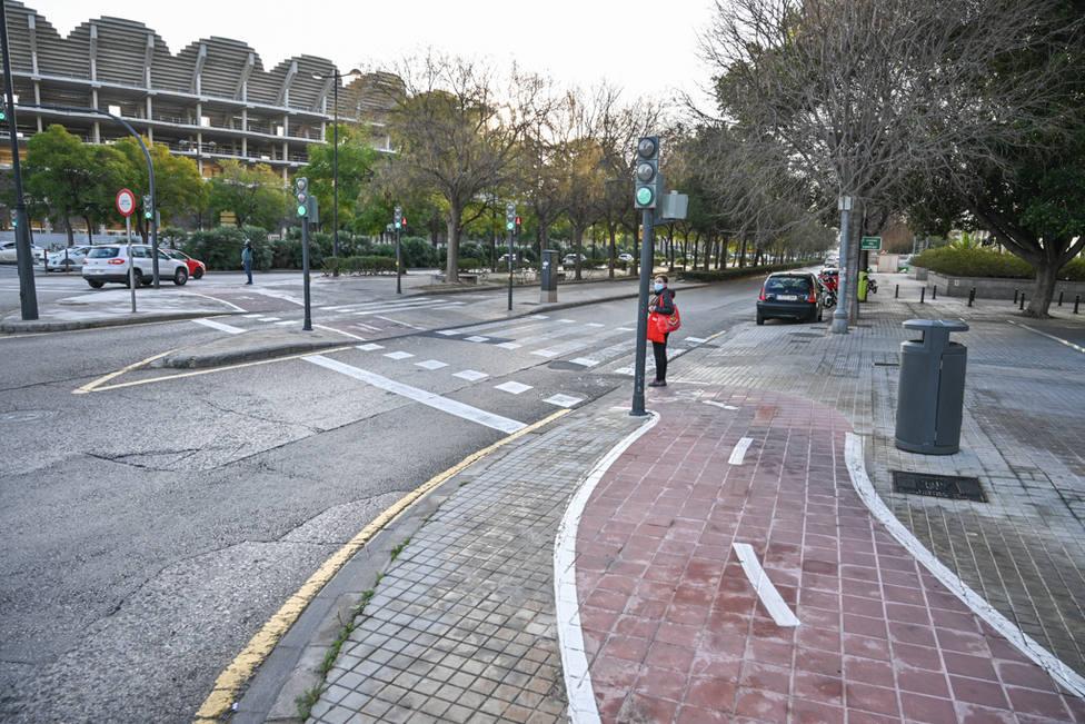 Carril bici Corts Valencianes