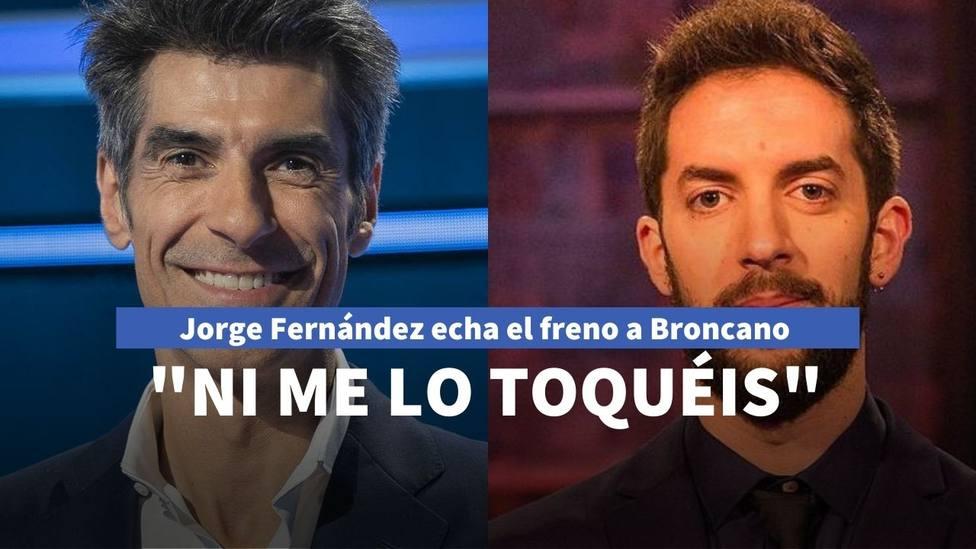 """Jorge Fernández echa el freno a David Broncano con el último gesto hacia 'La Ruleta': """"Ni me lo toquéis"""""""