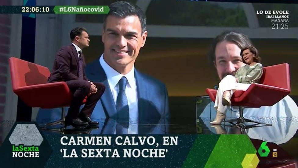 Iñaki López consigue sacar a Carmen Calvo la frase más jugosa sobre su relación con Iglesias: Muy a menudo