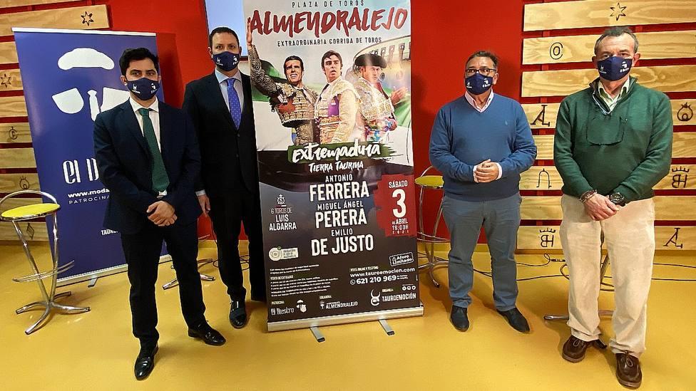 Acto de presentación de la corrida de toros de Almendralejo (Badajoz)