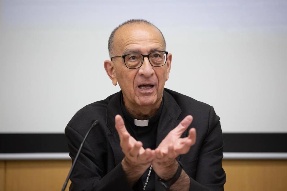 El cardenal Joan Josep Omella interviene durante una rueda de prensa - David Zorrkaino - Europa Press- Archivo
