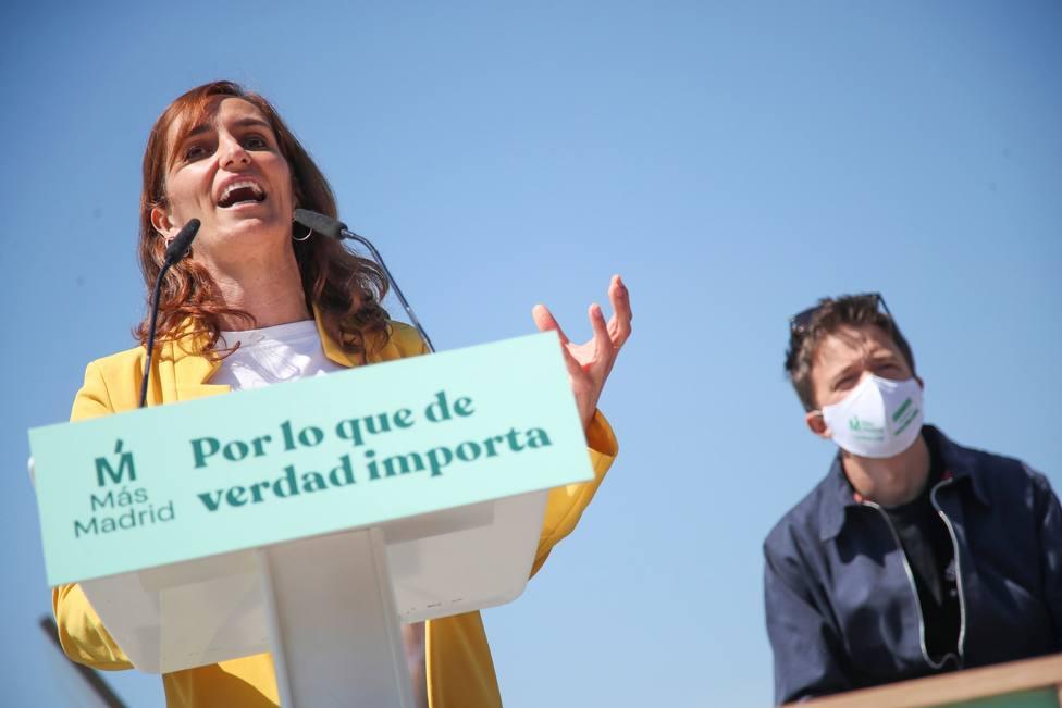 Acto de campaña de Más Madrid