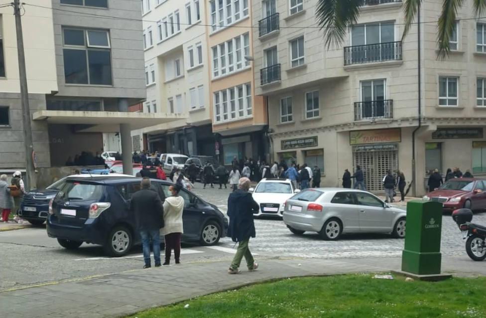 La pelea se inició en la zona de acceso al juzgado de guardia - FOTO: Cedida