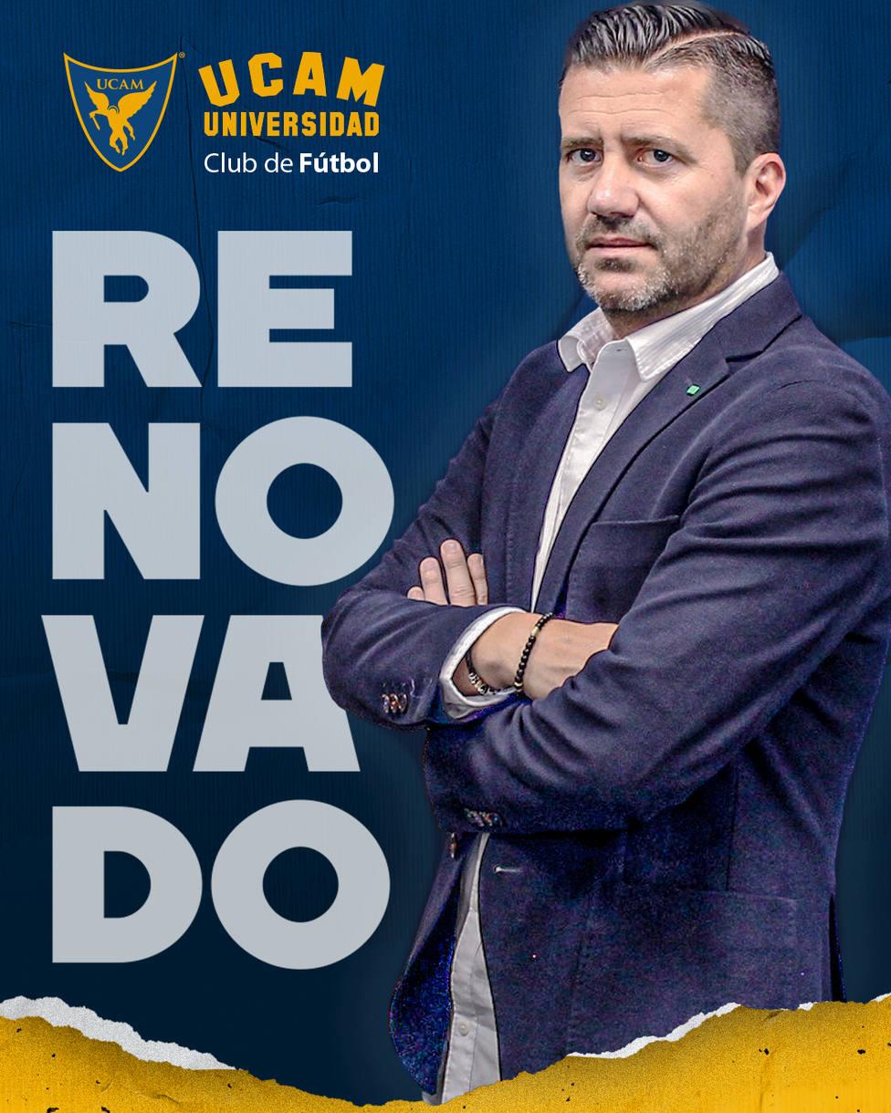 Pedro Reverte renueva su contrato dos temporadas más con la UCAM