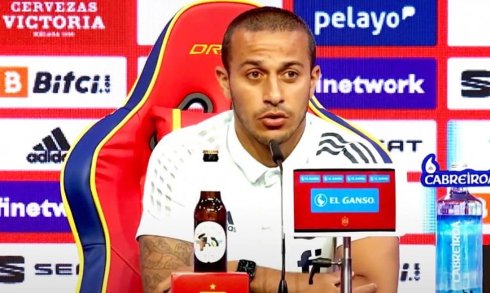 Thiago, en rueda de prensa