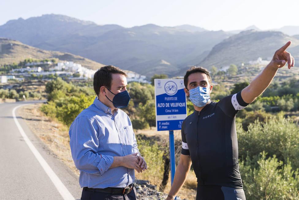 Alianza ciclista con Contador y Eurosport para mostrar al mundo el Puerto de Velefique