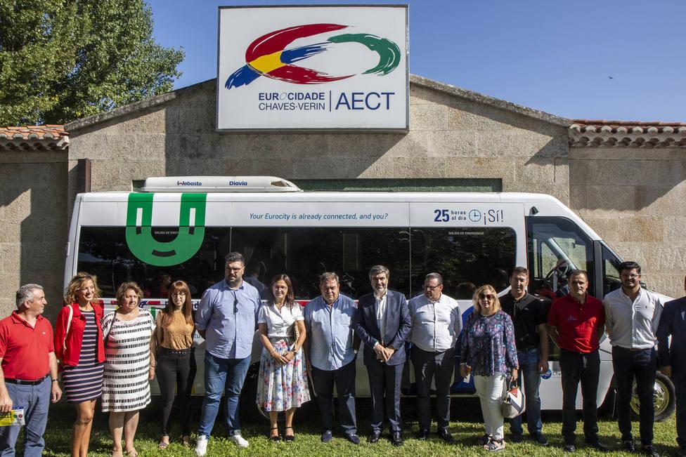 Representantes de la eurociudad en la presentación del proyecto TUT, en agosto de 2019