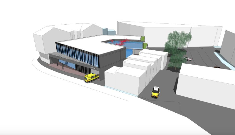 Recreación virtual del centro de salud para el barrio de San Juan - FOTO: PP de Ferrol