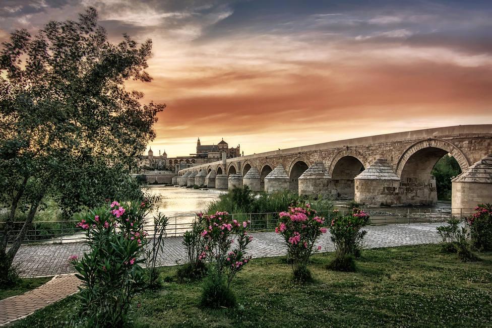 Puente Romano atardecer