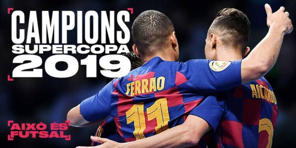 El Barcelona, campeón de la supercopa de fútbol sala