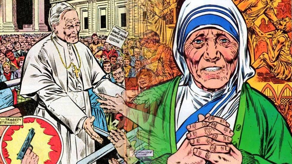 El desconocido cómic de Marvel: San Juan Pablo II y santa Teresa de Calcuta como superhéroes