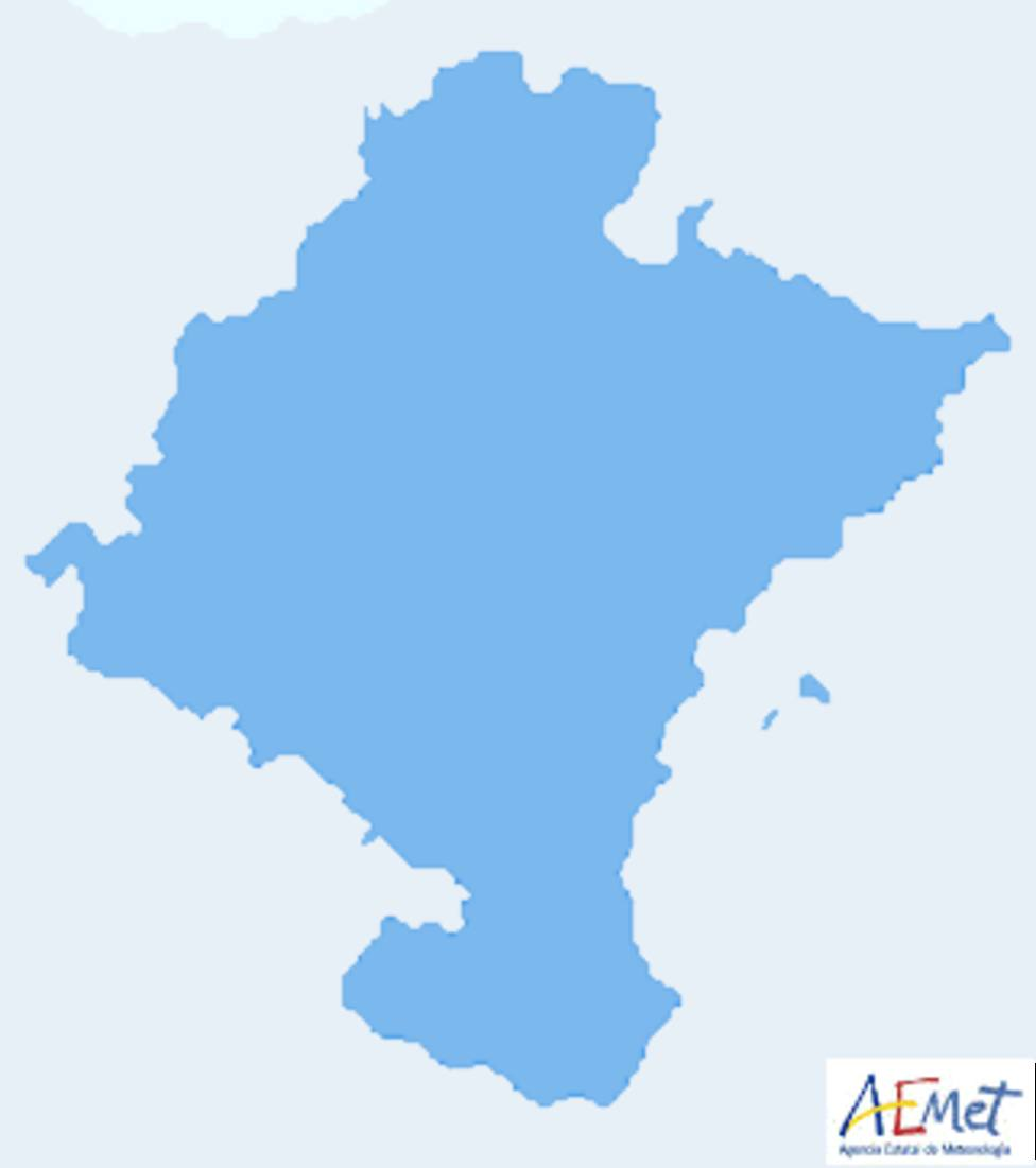 Porcentaje de posibilidades de precipitación en Navarra.