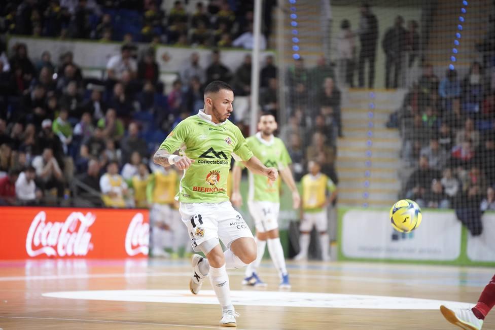 ximbinha en su último partido como jugador del Palma Futsal