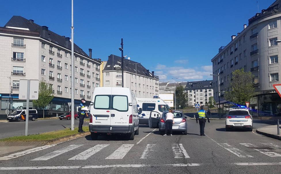 Control de la Policía Local y Policía Nacional en Ferrol - FOTO: Policía Local de Ferrol