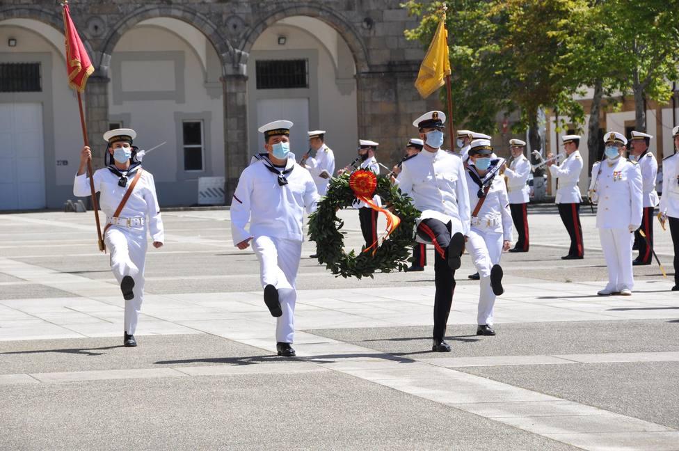 El acto contempla un homenaje a los que dieron su vida por España. FOTO: Armada