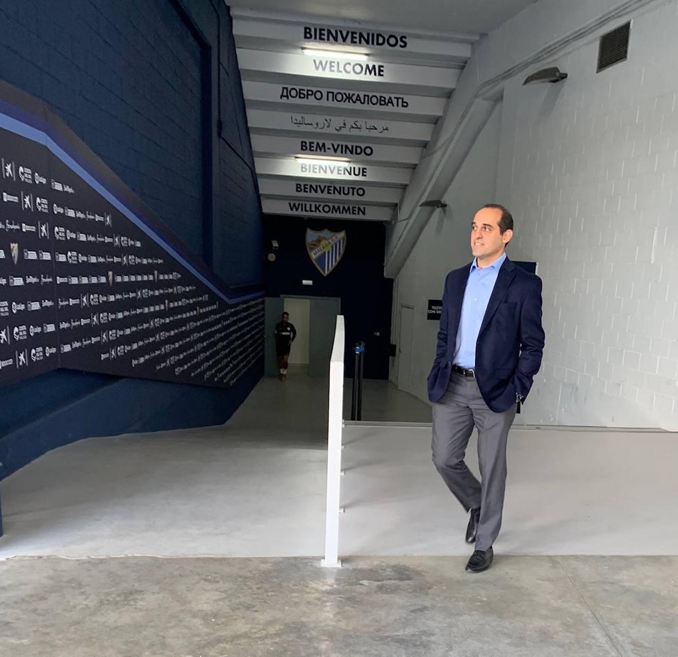 Imagen del exmanager general Richard Shaheen en Málaga.