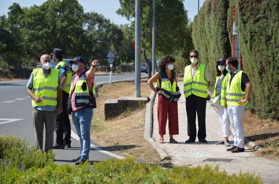 Visita del director general de Carreteras a Guadarrama
