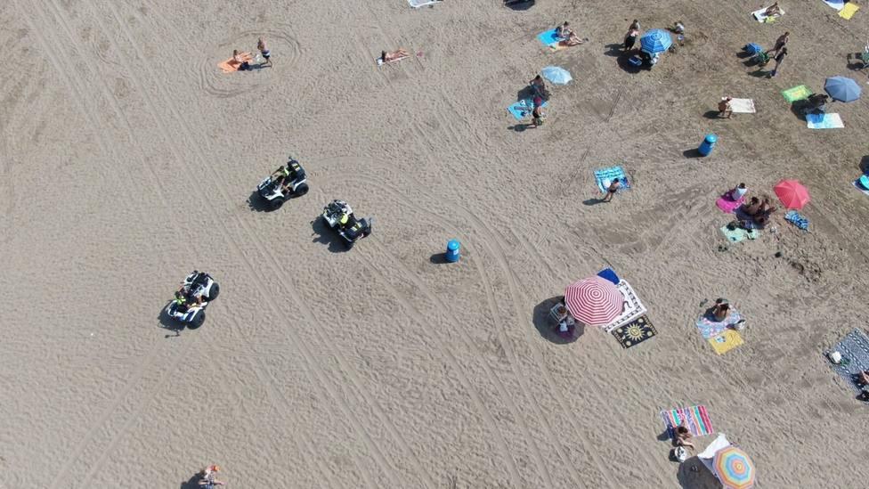 Playas de Valencia patrulladas por la Policía Local