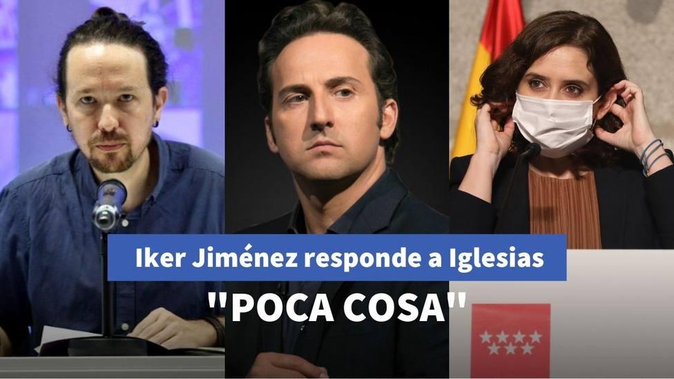 Iker Jiménez y Pablo Iglesias