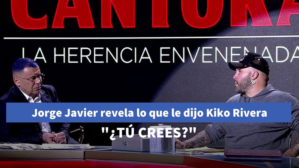 Jorge Javier Vázquez revela lo que le dijo Kiko Rivera al apagarse las cámaras tras el especial de Cantora