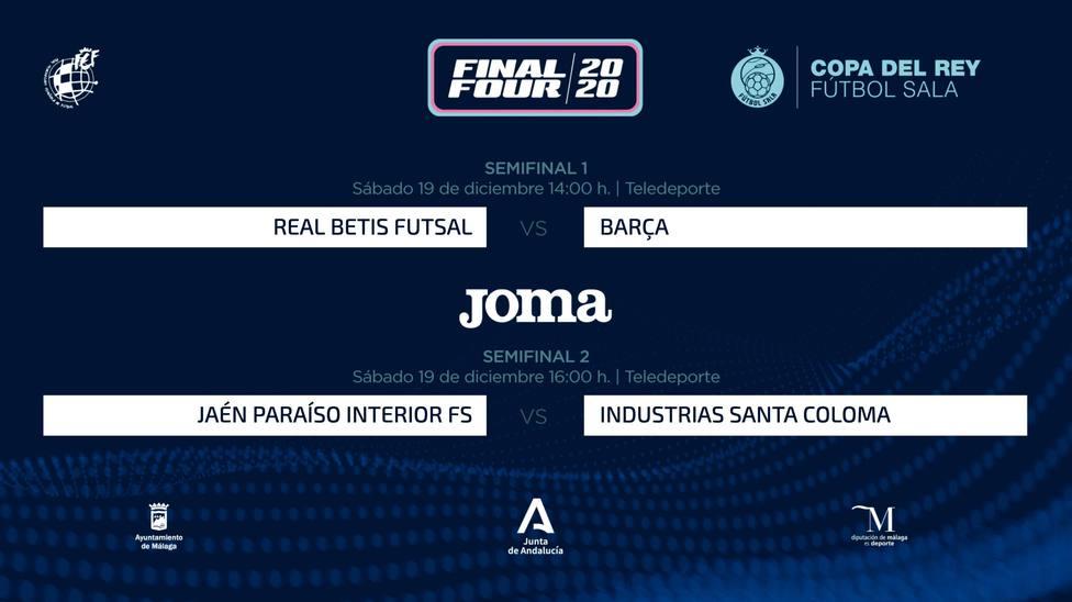 Betis-Barça y Jaén-Industrias Santa Coloma, semifinales de la Copa del Rey