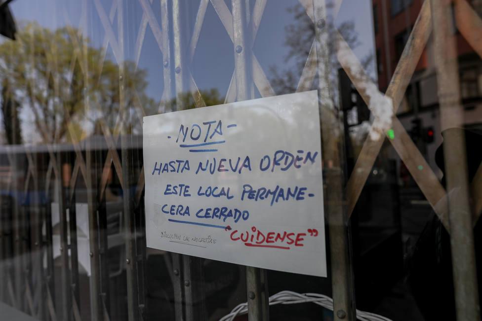 Negocios cerrados tras el anuncio del Estado de Alarma en Madrid