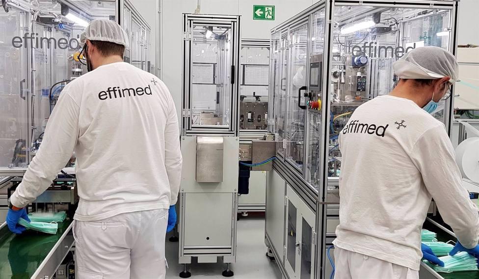 Las mascarillas de Effimed obtienen una certificación superior al 99% de eficacia de filtración bacteriana