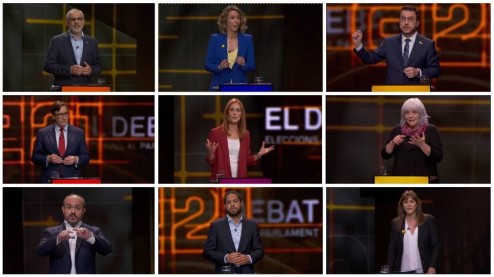 El encaje de Cataluña aflora las diferencias entre las 9 candidatos del debate