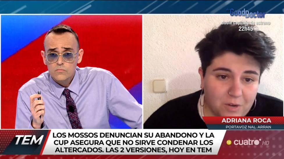 Risto Mejide deja KO a una portavoz de los violentos en Barcelona: Si te lo saltas, te puedes llevar un palo