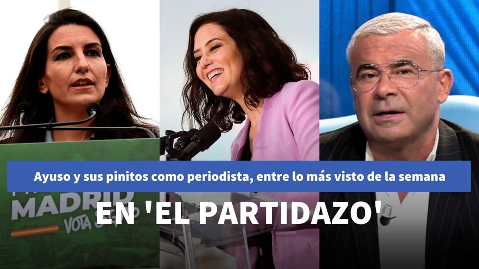 La anécdota de Ayuso sobre sus pinitos como periodista en El Partidazo, entre lo más visto de la semana