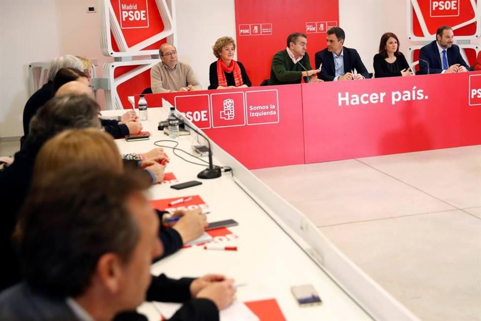La Ejecutiva del PSOE de Madrid se reúne para analizar el batacazo electoral